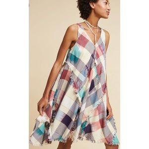 Anthropologie Maeve Plaid Handkerchief Dress